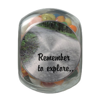 Remember to Explore Jelly Belly Candy Jar