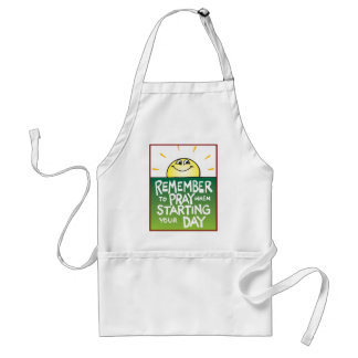Remember to Pray Everyday Adult Apron