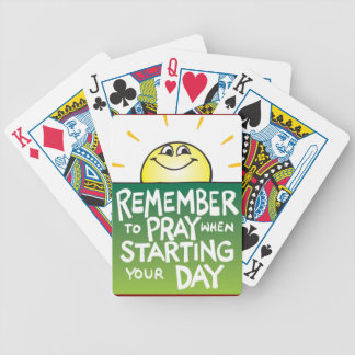 Remember to Pray Everyday Bicycle Playing Cards