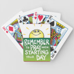 Remember to Pray Everyday Poker Cards