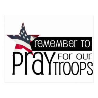 Remember to pray for our troops postcard