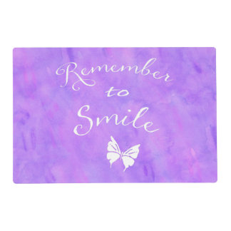 Remember To Smile Inspirational Quote Placemat