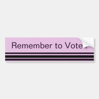 Remember to Vote Bumper Sticker