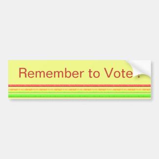 Remember to Vote Bumper Sticker