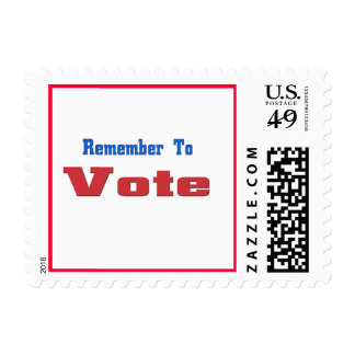 Remember to Vote Postage