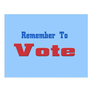 Remember to Vote Postcard