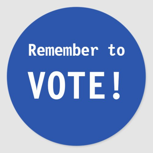 Remember to Vote Stickers