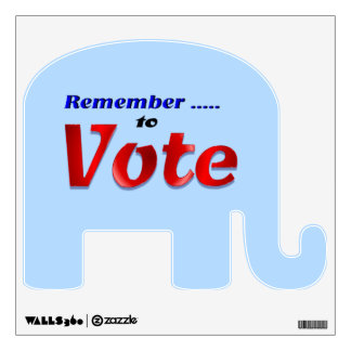 Remember to Vote Wall Sticker