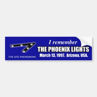 Remember UFO Phoenix Lights Bumper Sticker