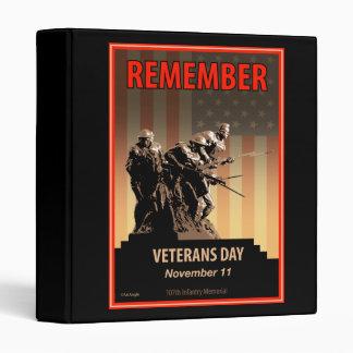 Remember Veterans Day Vinyl Binder