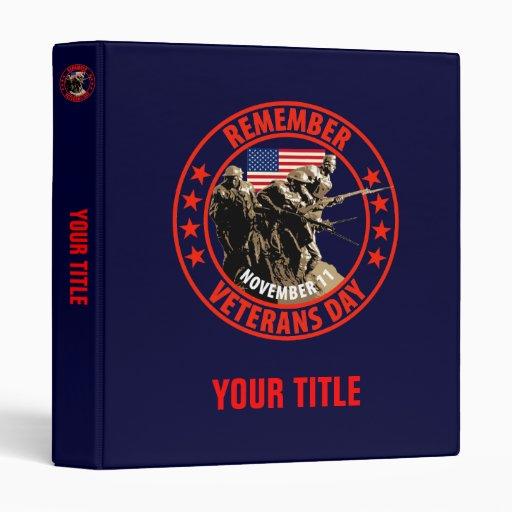 Remember Veterans Day Binders
