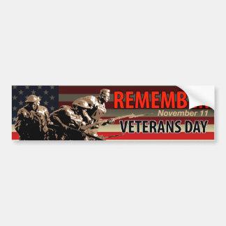 Remember Veterans Day Bumper Sticker