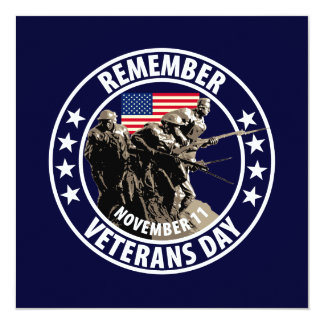 Remember Veterans Day Card