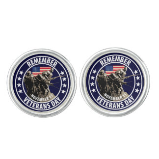 Remember Veterans Day Cufflinks