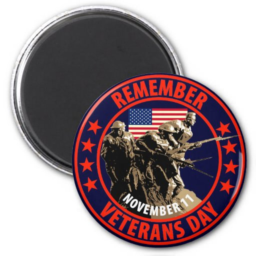 Remember Veterans Day Fridge Magnets