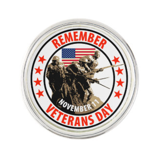 Remember Veterans Day Lapel Pin