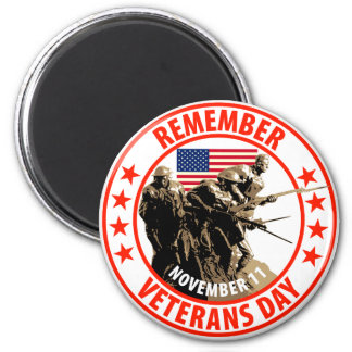 Remember Veterans Day 2 Inch Round Magnet