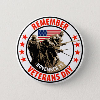 Remember Veterans Day Pinback Button