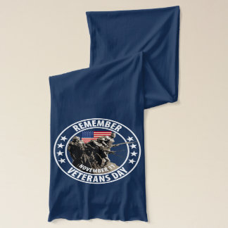Remember Veterans Day Scarf