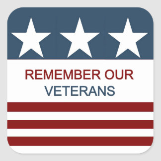 Remember Veterans Day Sticker