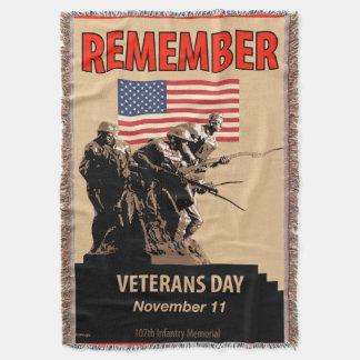Remember Veterans Day Throw Blanket