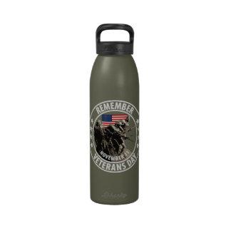 Remember Veterans Day Water Bottles