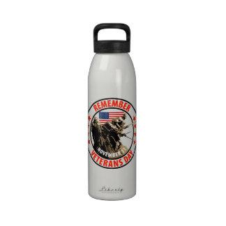 Remember Veterans Day Reusable Water Bottle