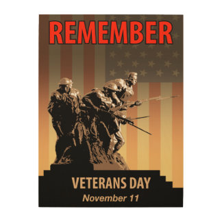 Remember Veterans Day Wood Wall Art