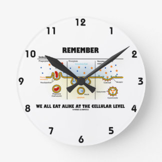 Remember We All Eat Alike At The Cellular Level Wall Clock