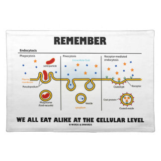 Remember We All Eat Alike At The Cellular Level Cloth Placemat