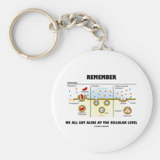 Remember We All Eat Alike At The Cellular Level Key Chains