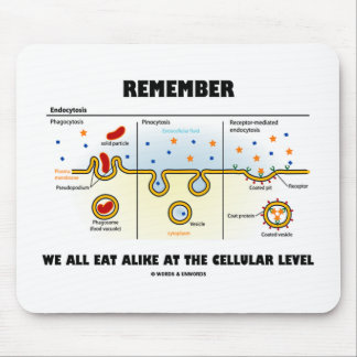 Remember We All Eat Alike At The Cellular Level Mouse Pad
