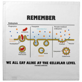 Remember We All Eat Alike At The Cellular Level Napkins