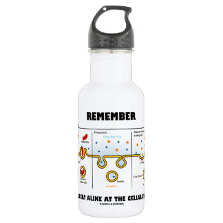 Remember We All Eat Alike At The Cellular Level 18oz Water Bottle