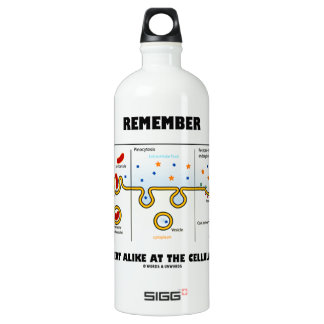 Remember We All Eat Alike At The Cellular Level Water Bottle