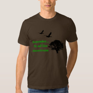 Remember... We all live downstream version 2 T-Shirt