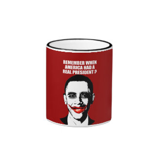 REMEMBER WHEN AMERICA HAD A REAL PRESIDENT RINGER COFFEE MUG