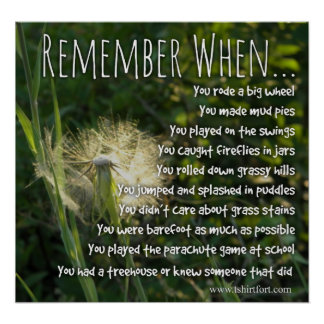 Remember When Childhood Memories Poster