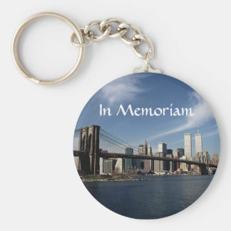 Remember When ~ In Memoriam ~ Twin Towers WTC NYC Basic Round Button Keychain