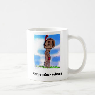 Remember when classic white coffee mug