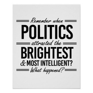 Remember When Politics Attracted the Brightest - W Poster