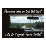 Remember When Retro Travel Invitation
