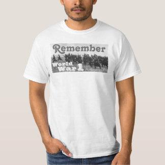 Remember World War 1 T Shirt
