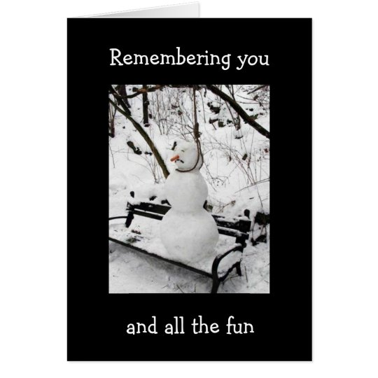 REMEMBER YOU AND FUN AT CHRISTMAS CARD