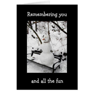 REMEMBER YOU AND FUN AT CHRISTMAS GREETING CARD