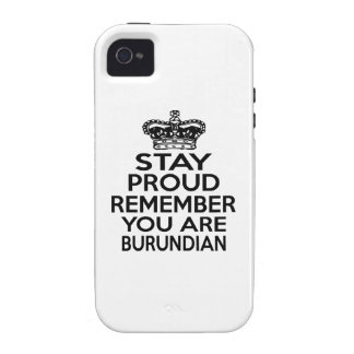 REMEMBER YOU ARE BURUNDIAN VIBE iPhone 4 CASE