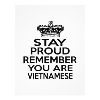 REMEMBER YOU ARE VIETNAMESE LETTERHEAD