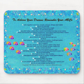 """""""... Remember Your ABCs"""" underwater scene Mousepad"""