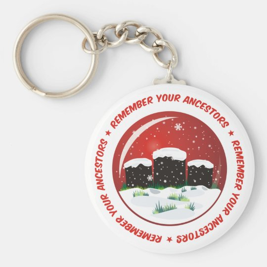 Remember Your Ancestors Snow Globe Keychain