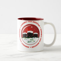 Remember Your Ancestors Snow Globe Two-Tone Coffee Mug